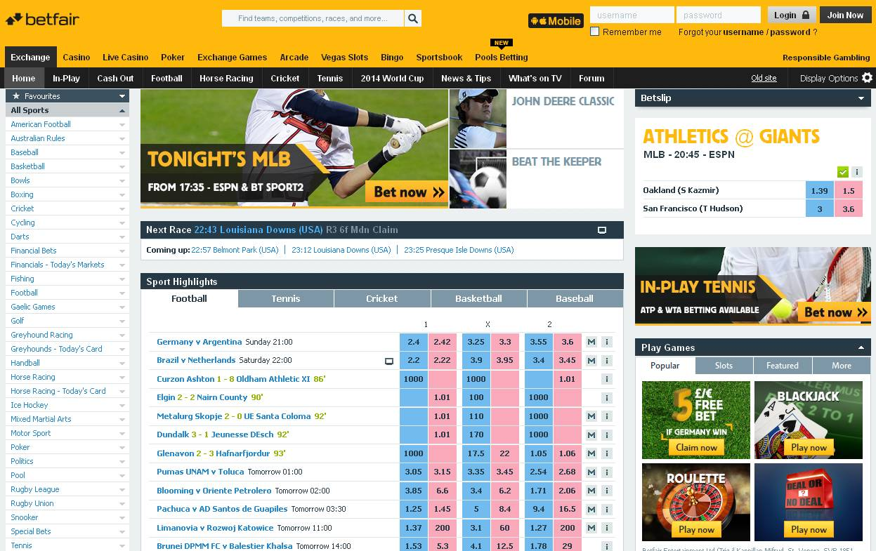 Betfair web